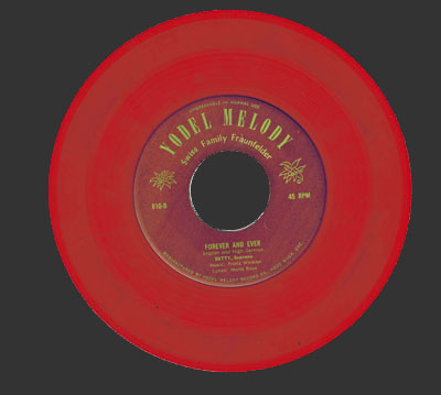 Forever and Ever Record, Red Vinyl, 1950s, Yodel Melody